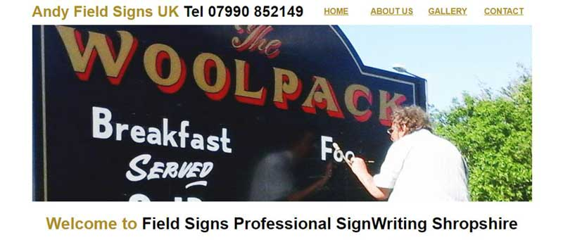 Field Signs signwriting Shropshire and surrounding areas