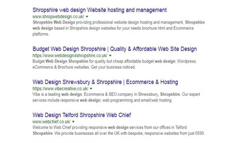 google serps organic