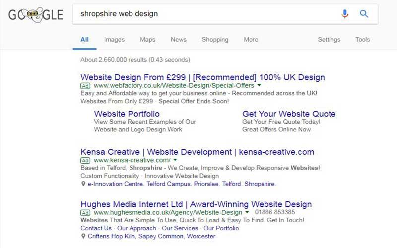 Google serps sponsored ads