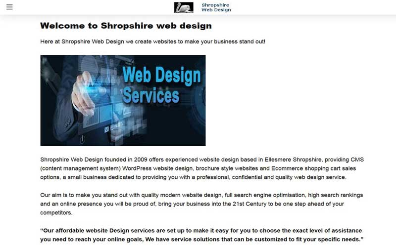Shropshire Web Design with google AMP
