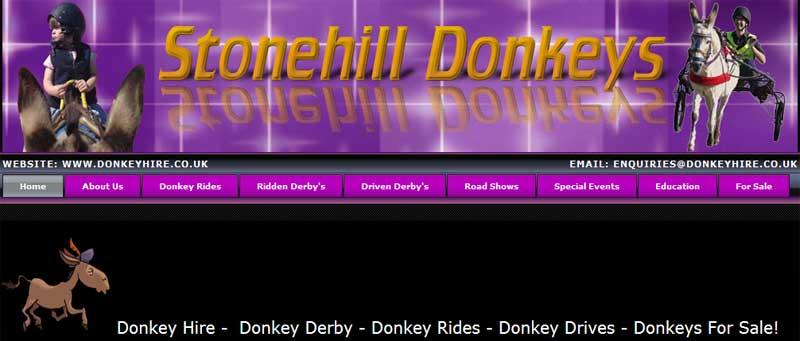 Donkey hire shows fetes donkey derby