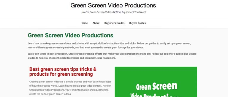 Green Screen Video Productions